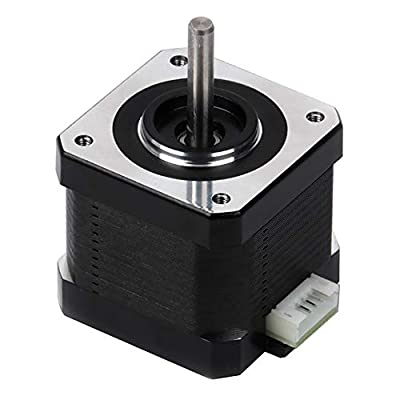 """FYSETC 3D Printer Motor, Nema 17 Stepper Motor 42-34 Motor 1.8 Stepper Angle 1.5A 2 Phase Body 4-Lead with 39.3"""" Cable for 3D Printer Extruder Reprap Makerbot CNC Creality CR-10 10S Ender 3 Printer"""