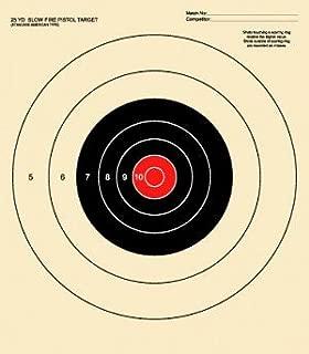 25 Yard Slow Fire Pistol Target, Official NRA Target B-16, Bullseye Target,