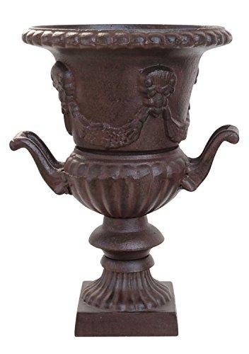 Nostalgie amphore 33cm Pot de Fleurs Alliage Fonte Style Antique