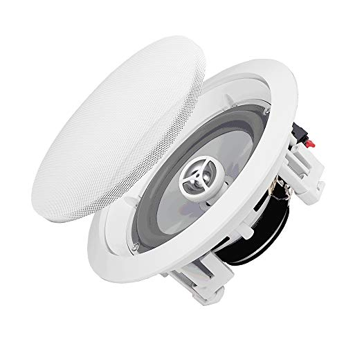 "OSD Audio 6.5"" Weatherproof In-Ceiling Speaker Pair - Indoor/Outdoor Stereo – ICE600WRS"