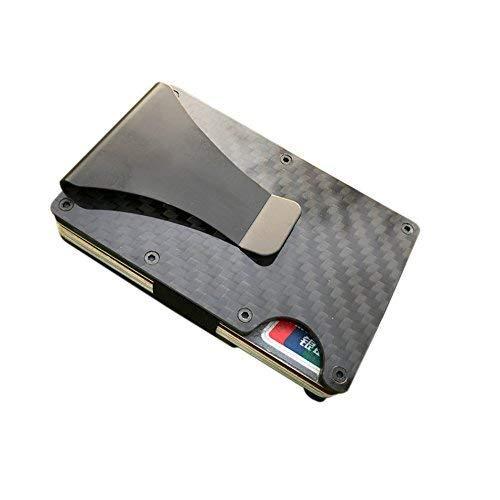 OFKPO Tarjetero Multiusos con Bloqueo RFID para Clip Cartera y 12 Tarjetas Crédito