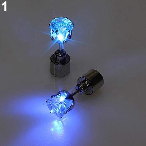 Braceus - Pendientes de Tuerca para Mujer con luz LED y Diamantes de imitación