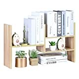 YCOCO Desktop Bookshelf Organizer Storage Rack Countertop Wood Display Shelf,Home Office Decoration Multipurpose Shelves,Tabletop Bookcase Storage Rack,Light Brown.