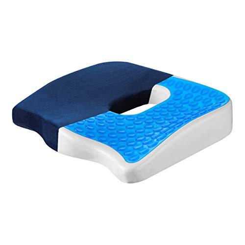 MOHOO Sitzkissen Stuhlkissen Schwamm gelkissen Bodenkissen Orthopädisches Sitzkissen wärmeableitender Atmungsaktiv waschbaren, Anti-Rutsch Kissen Bezug, Schmerzreduzierend Müdigkeit linder