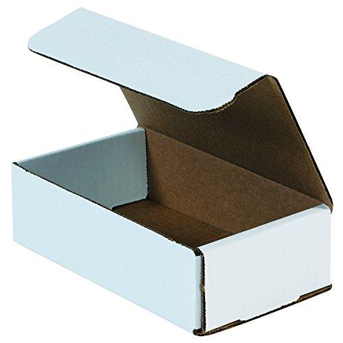 "Aviditi M741 Corrugado Mailers, 7"" x 4"" x 1"", Oyster Branco (pacote com 50)"