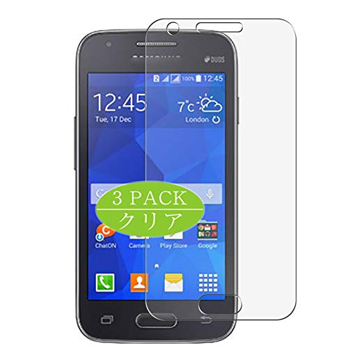 Vaxson Pack of 3 Screen Protectors, Compatible with Galaxy S Duos 3 G313HU, Screen Protector Bubble-Free [Not Tempered Glass]