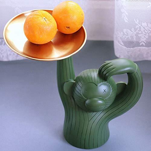 LQCN Nordic Modern Monkey Tray Design Fruit Snacks Snack...