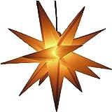 Außenstern gelb - beleuchteter Stern 55-60 cm Adventsstern Weihnachtsstern Leuchtstern Faltstern...