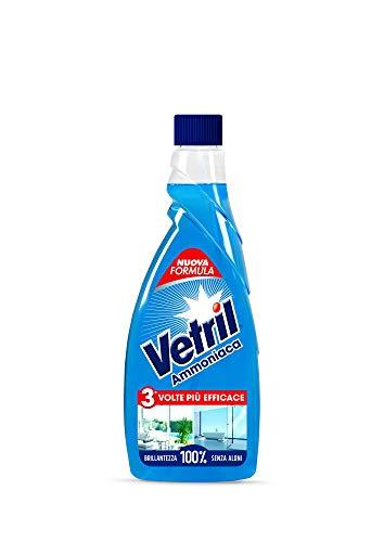 Vetril - Multiuso e Vetri, Ammoniaca, Ricarica - 650ml