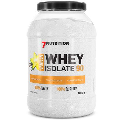 7 Nutrition Whey Isolate 90 2000g aislado de suero cero grasa (Vanilla)