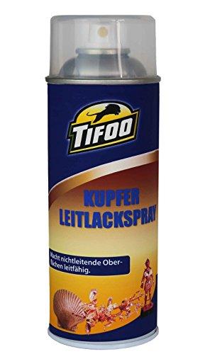 Leitlack-Spray Kupfer/Kupferleitlack Spray - Bastel Dekolack Galvanik – Silber-leitlack Ersatz, z.B. Galvanisieren von Kunststoff, Holz, 3D-Druck u.v.m.