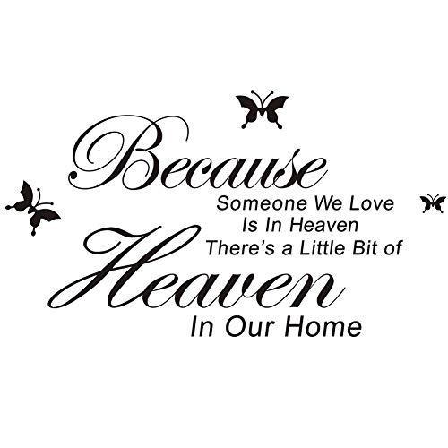 Engels Bijbel Spreekt Muurstickers Omdat Iemand We Liefde in de Hemel Vliegtuig Wanddecoratie voor Home Decor