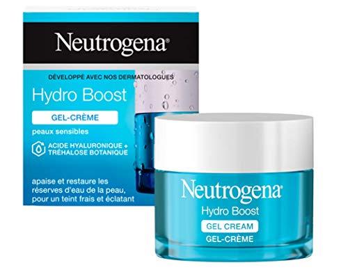 Neutrogena Hydro Boost Gel-Crème Hydratant Visage à l'Acide Hyaluronique, Pour Peaux Sèches, 1...