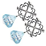 MILISTEN 1 Pair Flower Shape Nipple Clip Non Piercing Nipple Rings Nipple Clamps with Crystal Diamond Breast Stimulator Toys for Adult Women Fake Body Jewelry