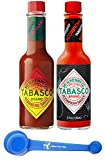 Tabasco Brand Hot Sauce, Habanero and Scorpion, 5 Ounce (Pack of 2) - with Make Your Day 4-in-1 Measuring Spoon