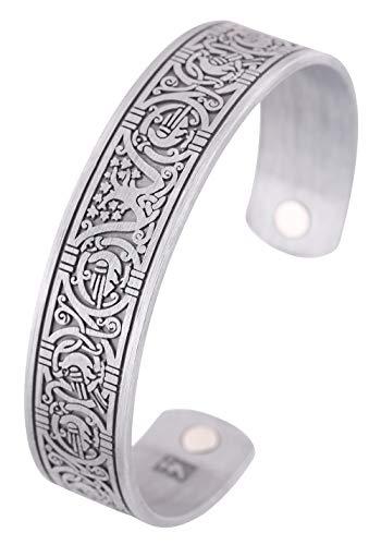 Magnettherapie-Armband, Wikinger-Armband, Baum des Lebens, keltischer Knoten, Armreif für Damen und Herren