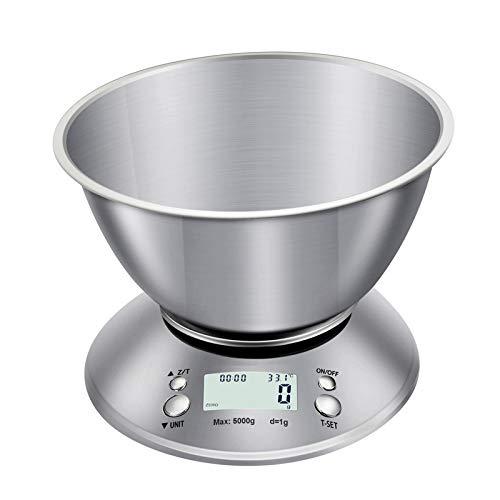 yurunn Báscula de Cocina Digital báscula electrónica Gran Superficie de pesaje iluminación Pantalla LCD Chino 3 kg / 0.1g
