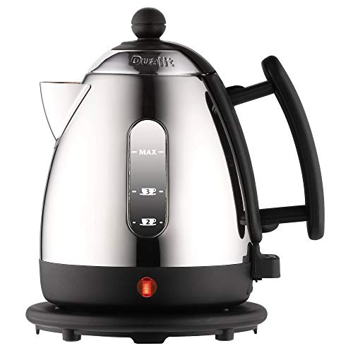 Dualit Lite Kettle - 1L 2kW Jug Kettle - Polished with Black Trim, High Gloss Finish - Fast Boiling Kettle by Dualit - 72200