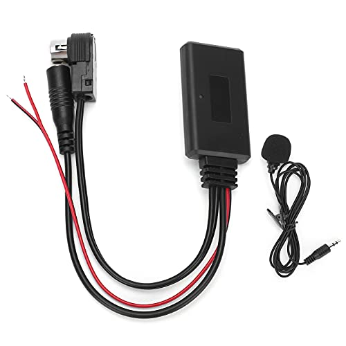 Adaptador de cable AUX, Yctze Adaptador de cable AUX Bluetooth con micrófono Llamadas con manos libres para teléfonos inteligentes Reemplazo para radios