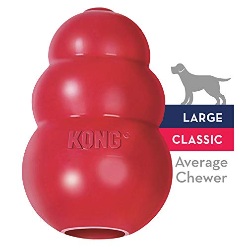 KONG Classic Dog Toy, Large, Red, KONG Classic Large
