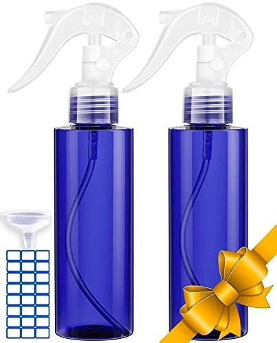 Spray Bottle For Hair - Best Leak Proof Travel Bottles - UV Protection Plastic Spray Bottles - Mister Spray Bottle For Hair Styling, Cleaning, Essential Oils, Gardening & Misting (2 Pack 7oz/200ml)