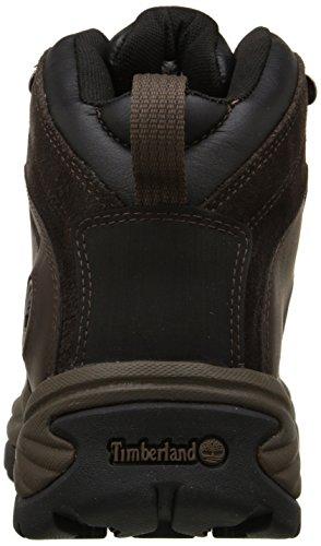 Timberland Men's Flume Mid Waterproof Hiking Boot, Dark Brown, 8.5