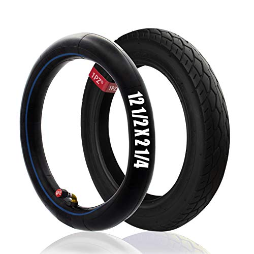 1PZ ER5-T02 Set of 12-1/2'x2-1/4' Scooter Tire & Inner Tube for Pocket...