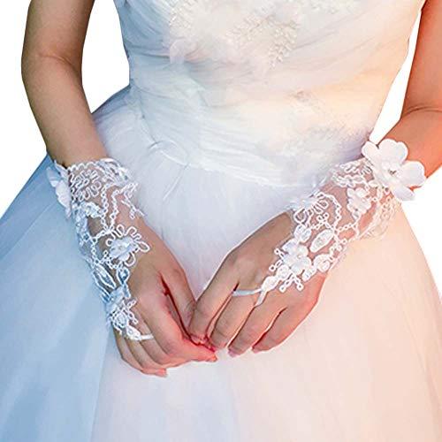 Gants de mariée mariage robes de soirée dentelle gants courts B03