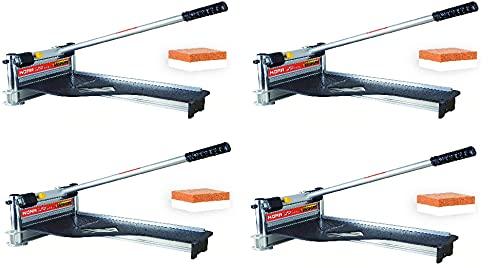 Norske Tools KORR KMAP001 - Cortador para suelos laminados y revestimientos (9.0in) con valla de aluminio fija resistente y ajustes de inglete en ángulo de precisión incorporados con piedra de afilar