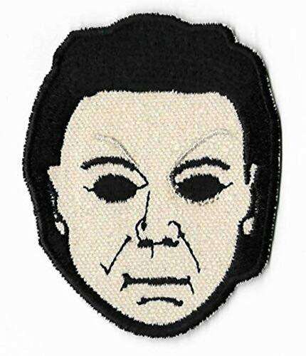 Toppe fai da te film film film rare orrore toppe termoadesive adesive retro Cult Slasher (Michael Myers Mask 90mm)