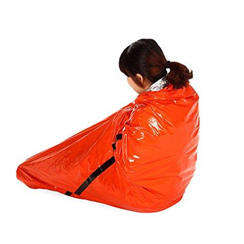 Grofitness d'urgence Sac de couchage extérieur Couverture de survie thermique réfléchissante par temps froid Shelter Tente Camping Randonnée multifonctions Tapis