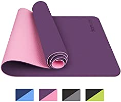 TOPLUS Yoga Mat, Classic Pro Yoga Mat TPE Eco Friendly Non Slip Fitness Exercise Mat with Carrying Strap-Workout Mat for...
