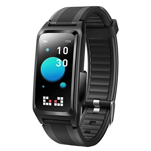LTLJX Smartwatch, Reloj Inteligente Impermeable Táctil con Temperatura Corporal Podómetro, Pulsera de Actividad con Monitor de Sueño Pulsómetro, para Hombre Mujer