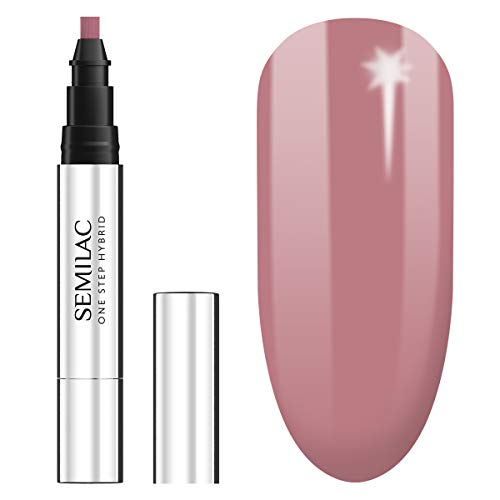 Semilac One Step UV Nagellack 3in1 in Stift-Form | Beige Farb | S240 Peach Beige | 3 ml | Innovativ UV LED Farblack | Nail Polish Ideal für zu Hause und Professionelle Maniküre