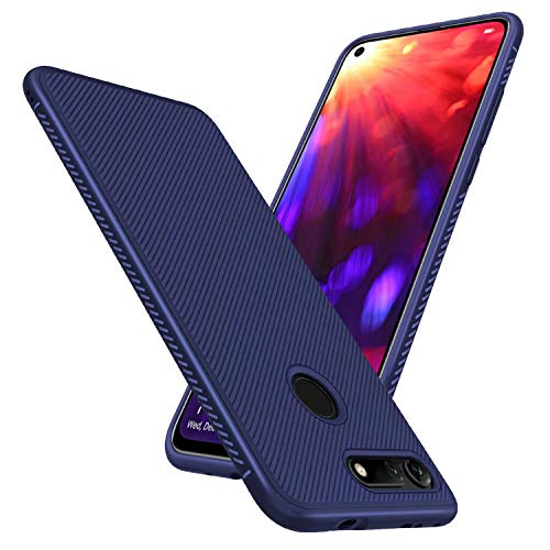 FGXG Hülle Kompatibel mit Huawei Honor View 20/V20 Handyhülle.Silikon Schutzhülle, Ultra Thin Tasche Cover,stoßfeste TPU Schutzhülle, ultradünne & langlebige Hülle(Blau)