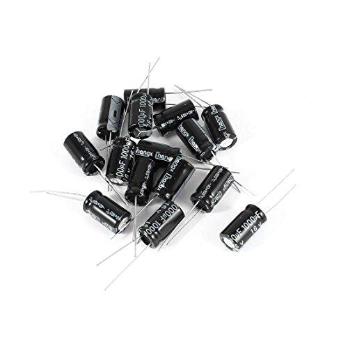 Condensador electrolitico - SODIAL(R) 15 pzs Plomo radial condensador electrolitico 16V 1000uF 10x17mm