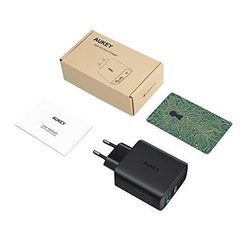 AUKEY USB C Ladegerät 30W für iPhone 12, Schnellladen Netzteil mit Dynamic Detect & GaN Tech, USB C PD Ladegerät für 13''MacBook Pro, iPhone 11 Pro, AirPods Pro, Google Pixel, iPad, Nintendo Switch