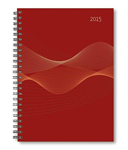 Wochenplaner PP-Einband rot 2015 - Kalender-Ringbuch A5 / Cheftimer A5 - Ringbindung - 1 Woche 2 Seiten - 128 Seiten