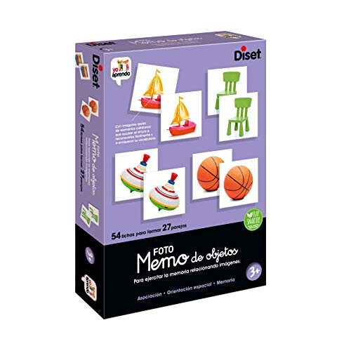 Diset- Memo Photo Objects Juego Educativo para Niños, Multicolor (68946) 🔥