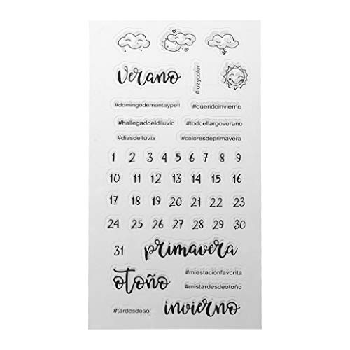 Chaoxiner Christmas Silicone Seal Clear Stamp for Card Making Silicone Stamps for Craft DIY Scrapbooking Embossing Photo Albums Paper Notebook Card Making Arts Crafts Supplies