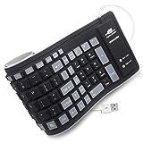 BONUSIS Foldable Silicone Keyboard Flexible Keyboard Roll Up Keyboard USB Wired Soft Waterproof Silica Gel Computer...