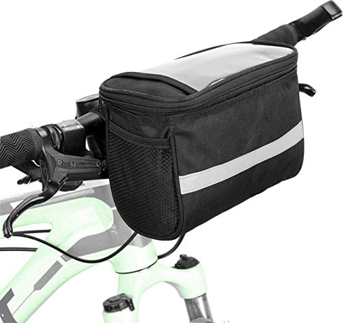 fbeurope Fahrrad Lenkertasche - Wasserdicht - Kühltasche mit Reflektionsstreifen- abnehmbaren Schultergurt - Handy, Karten oder Navi PVC Fach - Für Ausflüge, Geocaching, Outdoor und Sport