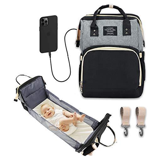KILIGS- Bolsos para carritos de bebe , Mochila bebe, Cambiador bebe ergonomica, Mochila bebes para pañales y biberones, Bolsa bebe hospital, Mochila pañales Pañaleras para bebes con cuna y usb