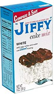 Jiffy Cake Mix White 9 OZ (Pack of 12)
