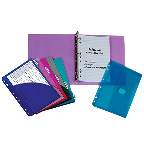 C-Line Mini Binder Starter Kit, Includes Binder, Index Dividers, Filler Paper and Binder Pockets, Colors May Vary, 1 Each (30100)