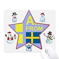 私はスウェーデンから クリスマス・雪人家族ゴムのマウスパッド
