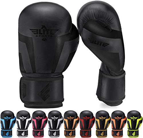 Boxing Gloves for Men, Women, and Kids, Elite Sports Kickboxing Punching Bag Pair of 2 Gloves