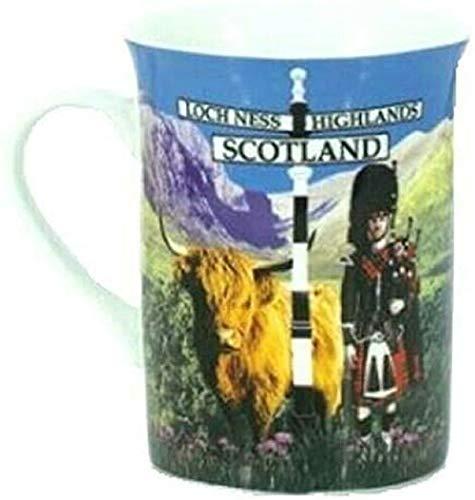 Schottland-Tasse, Souvenir, Geschenk, Tee, Kaffee, Lochness Highland Piper