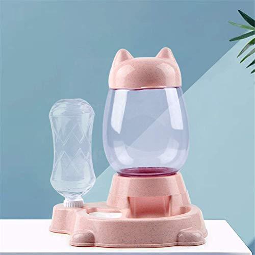 NYKK 2.2L PET Hund Cat Cat Bowl Automatische Zuführung Katzen Lebensmittelbehälter mit Waterer Brunnen Kätzchen Bowls Slow Food Feeding Pet Supplies (Farbe: Blau) lalay (Color : Pink)