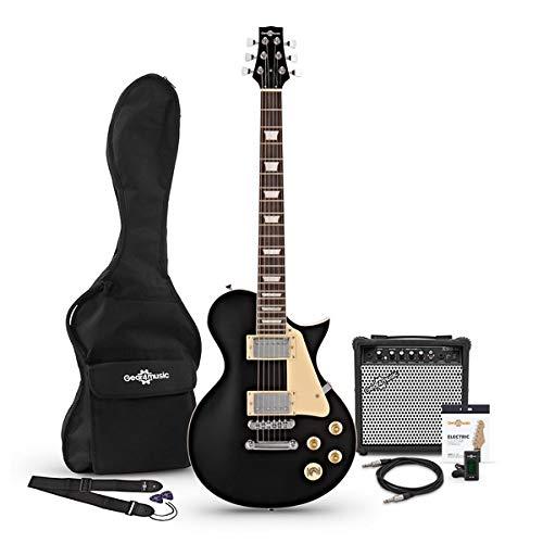 Set de Guitarra Electrica New Jersey Negra con Amplificador de 15 W